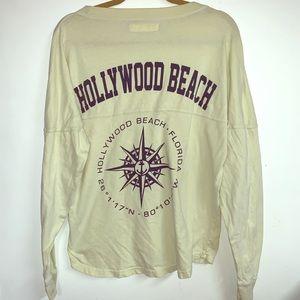 Hollywood beach long sleeve tee medium